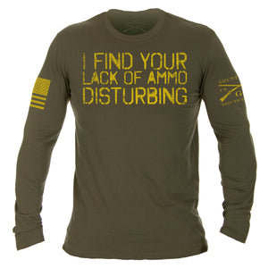I find your lack of ammo disturbing long sleeve tshirt