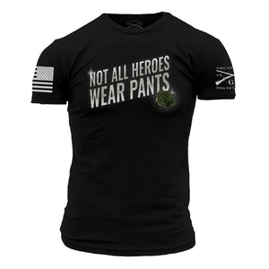 The front of the Irreverent Warriors - Not All Heroes Wear Pants 2.0 in Black