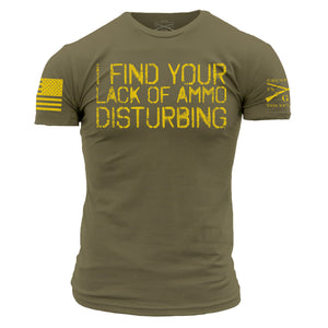 i find your lack of ammo disturbing short sleeve tshirt