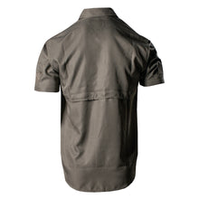 Load image into Gallery viewer, Breathable back panel and back of the Grunt Style Short Sleeve Fishing Shirt in Olive