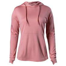 Load image into Gallery viewer, Front of the Women's GS Lightweight Performance Hoodie in Mauve
