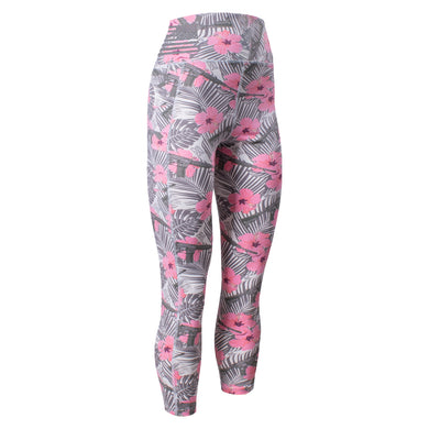 Front of the Women's GS Utility Legging in the Death Flower design