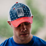GS Rifle Flag Patriotic Hat