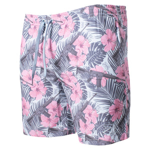 "Front of the GS 7"" Fatties Swim Trunks in the Death Flower color"