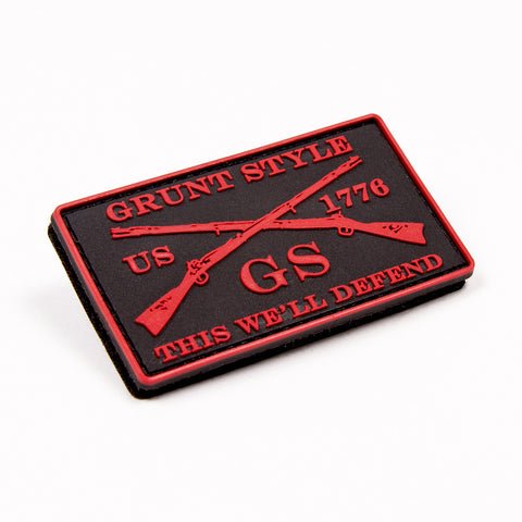 Red Grunt Style PVC Patch