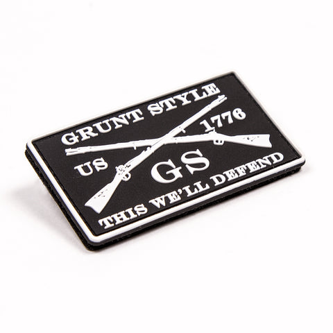 White Grunt Style PVC Patch