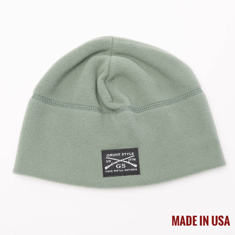 Green Fleece Beanie