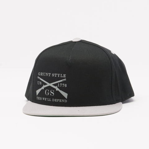Black & Grey Flat Bill Hat