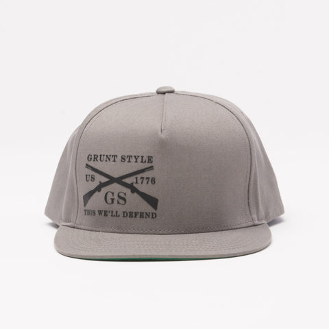 Grey Flat Bill Hat