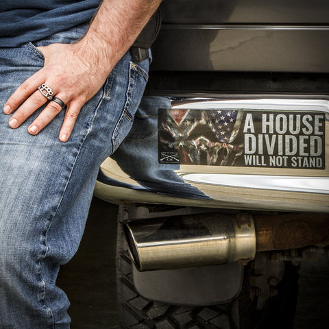 House Divided Bumper Sticker