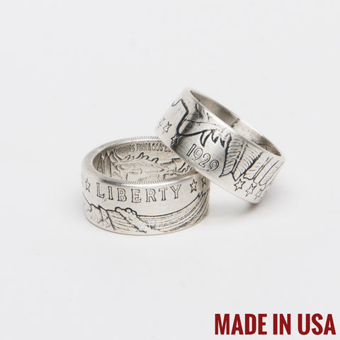 .999 Silver Incuse Indian Coin Ring