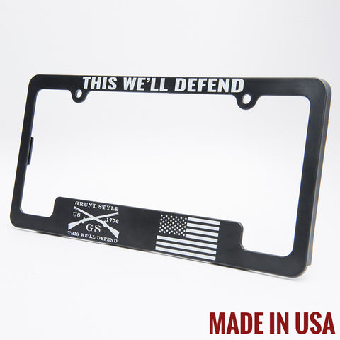 This We'll Defend License Plate Frame