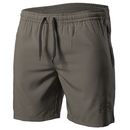 Front of the Grunt Trunk swimming trunks in Olive
