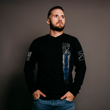 Load image into Gallery viewer, Blue Line Flag Long Sleeve