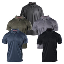 Load image into Gallery viewer, The Grunt Style Performance Polo for Men comes is five colors, Navy, Black, Military Green, Asphalt, and Charcoal