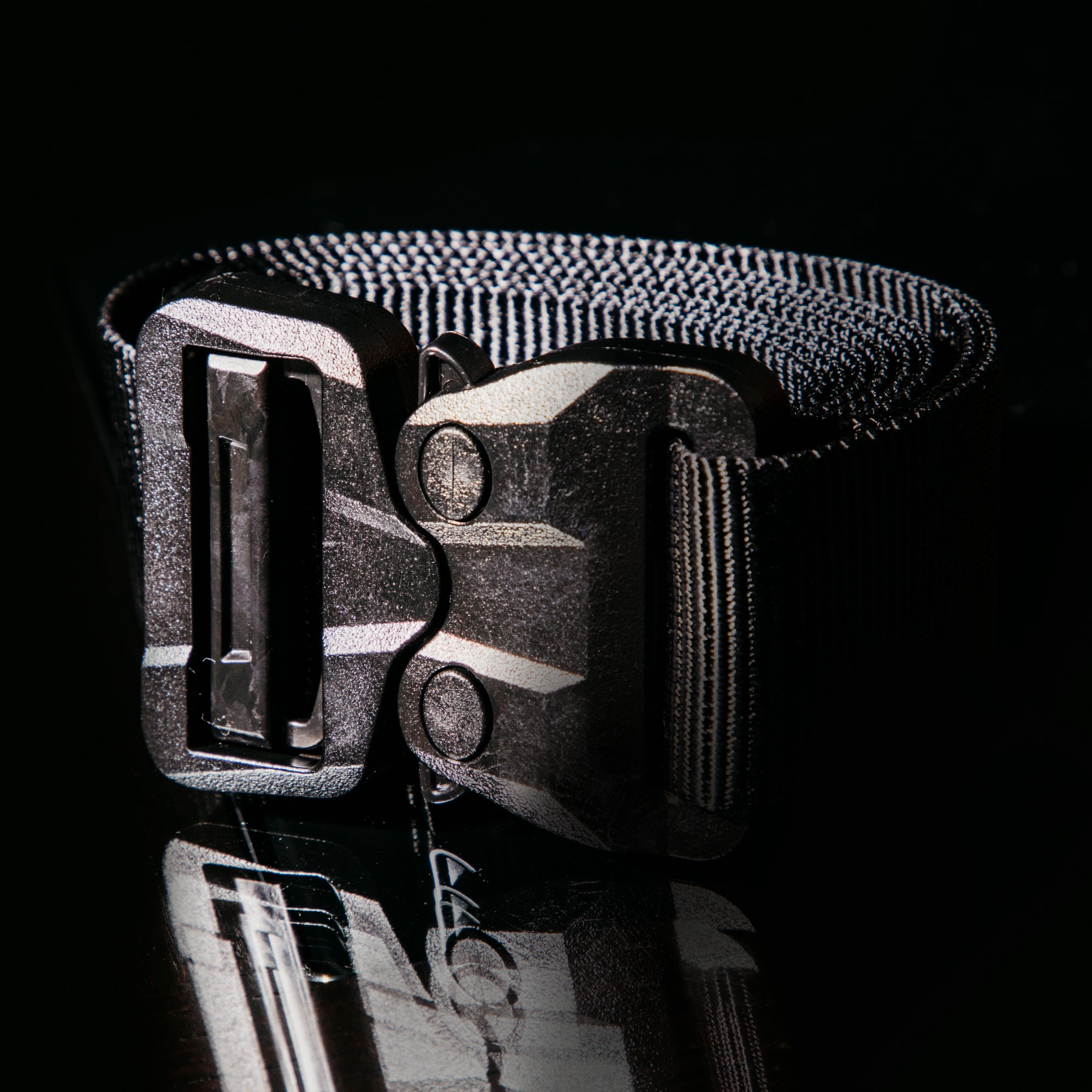 Grunt Style by Klik Belt™ - TSA Approved Black on Black Poly Cobra®