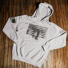 Load image into Gallery viewer, Ammo Flag Hoodie - Sport Grey