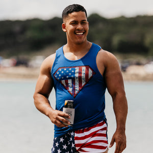 Super Patriot Men's Tank - Royal Blue