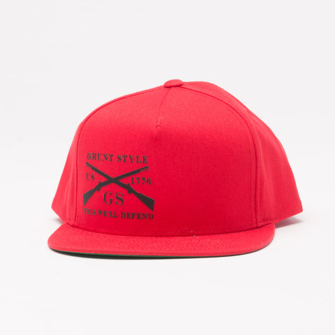 Red Flat Bill Hat