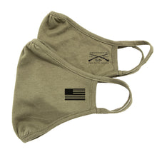 Load image into Gallery viewer, Grunt Style 2-Pack Reversible Facemask - Assaulting Flag Military Green
