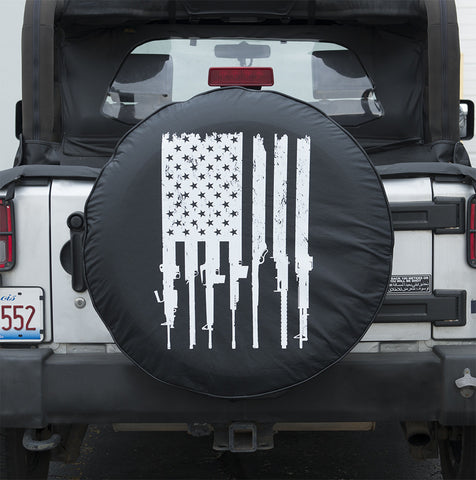 Rifle Flag Tire Cover