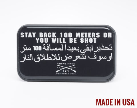 Stay Back Trailer Hitch Cover