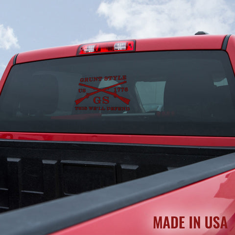 Red Grunt Style Logo Decal