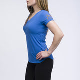 Ladies Blue Yoga Shirt