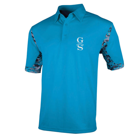 Men's VGA Polo - Columbia - Front Phantom