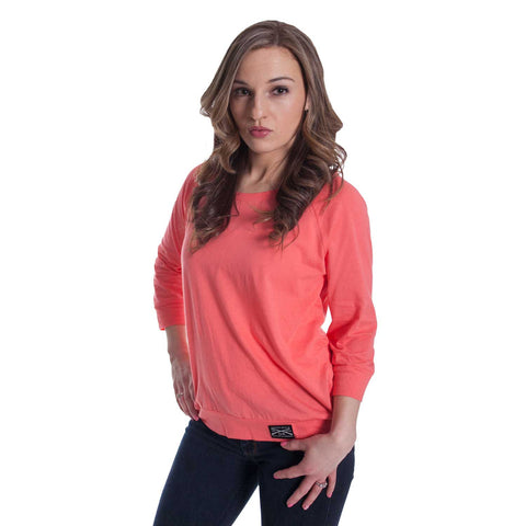 Ladies Relaxed Raglan - Coral