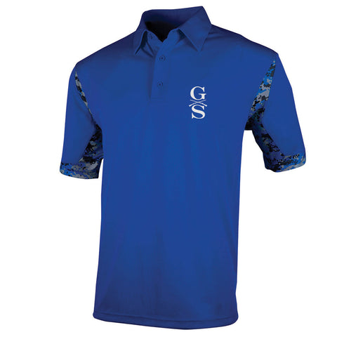 Men's VGA Polo - Royal - Front Phantom