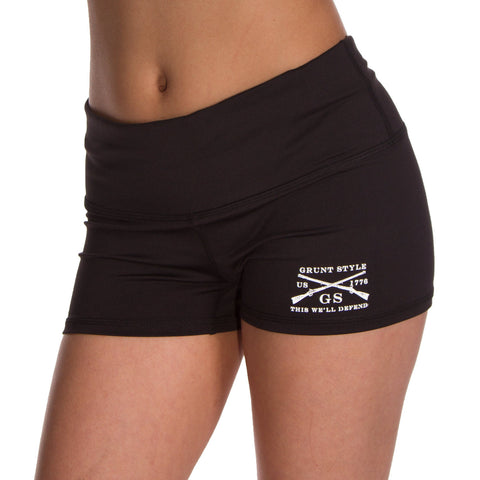 Reflex Black Yoga Shorts