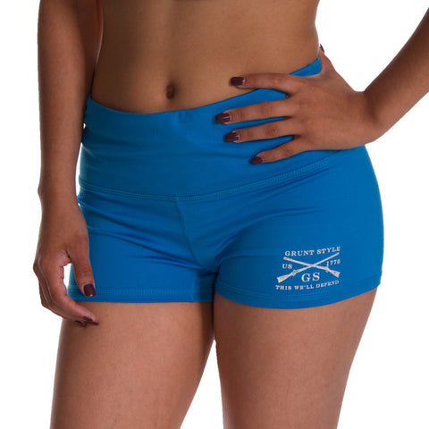 Reflex Blue Yoga Shorts