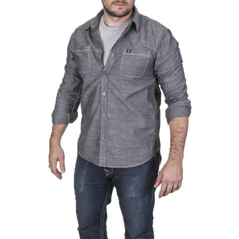 Pro Button Up - Grey - Front