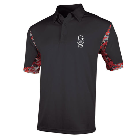 Men's VGA Polo - Black - Front Phantom