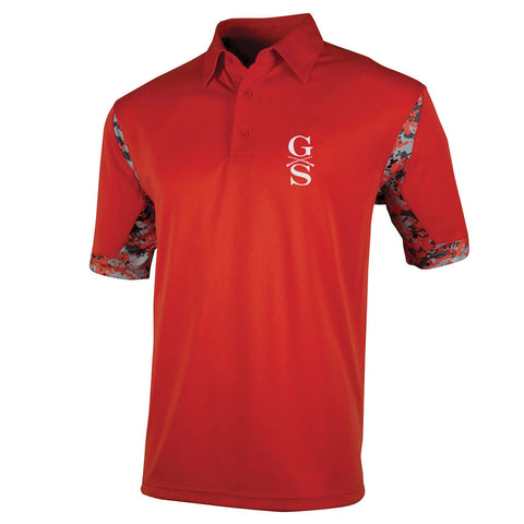 Men's VGA Polo - Scarlet - Front Phantom