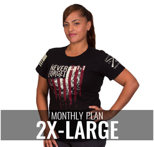 Ladies 2XL - $22/Monthly