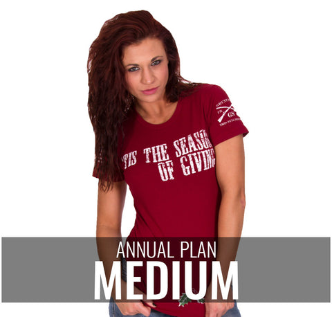 Ladies Medium - $216/Annually