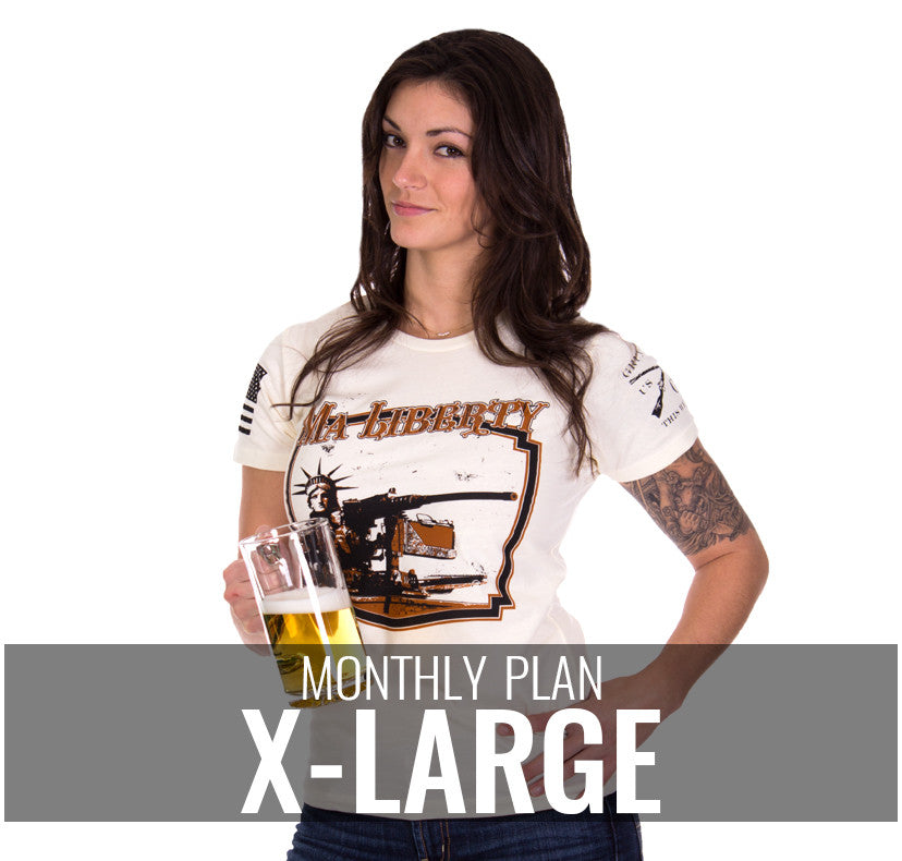 Ladies XL - $20/Monthly
