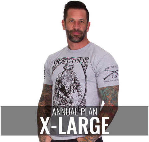 Male XL - $216/Annually