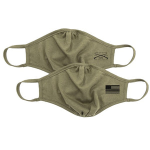 Grunt Style 2-Pack Reversible Facemask - Assaulting Flag Military Green