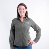 Ladies Outdoor Button Up - Moss