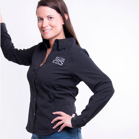 Ladies Outdoor Button Up - Black
