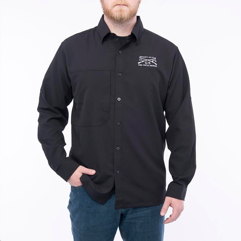 Outdoor Button Up - Black