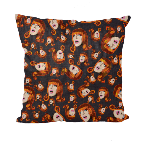 Coco Puff (Blue) - Coco Peru X Binge (Limited Edition) Throw Pillow with Insert