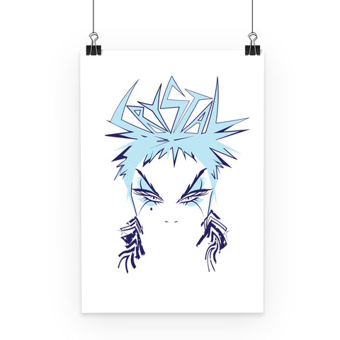 Crystal Official Ice Blue Poster