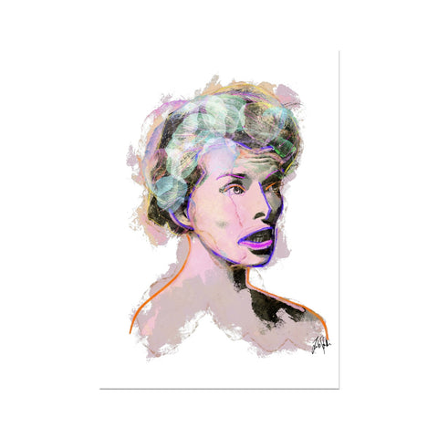 Hollywood Greats - Katherine Fine Art Print
