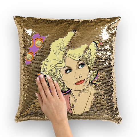 Dolly Mix 9to 5 Fuchsia - XWayneDidIt Sequin Cushion Cover