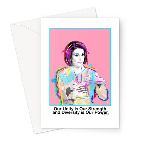 Fierce Political Women - Nancy Pelosi Greeting Card