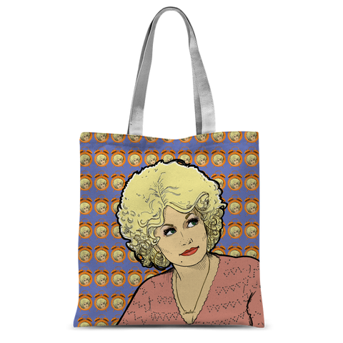 Dolly Mix 9 to 5 Electric Blue - XWayneDidIt Tote Bag